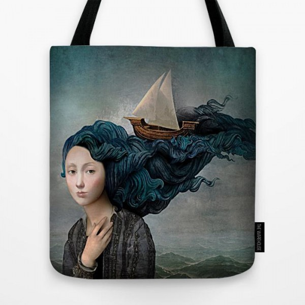 Girl Hair Art Printed Tote Bag