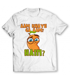 aam khaye ga aam printed graphic t-shirt