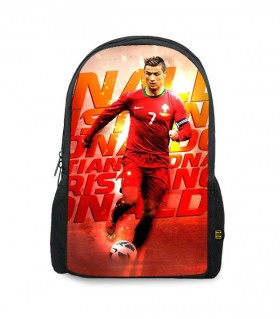 cr7 art printed backpacks