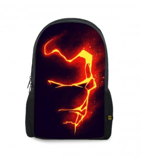 iron man fire art printed backpacks