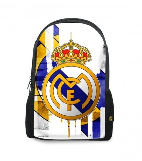 real madrid art printed backpacks