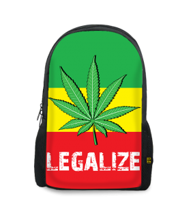 legalize weed printed backpack