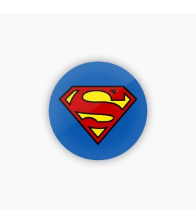 superman art printed badge