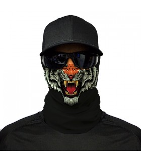 tiger face printed bandana mask