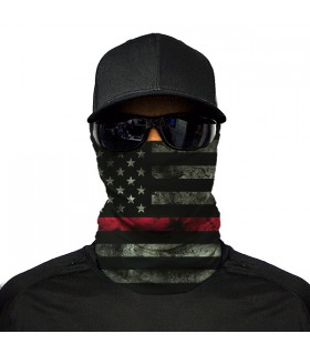black american flag printed bandana mask