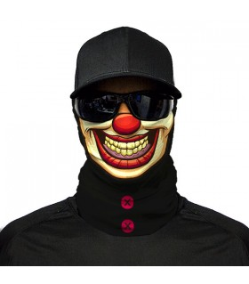 clown face printed bandana mask