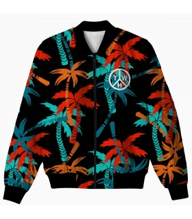 palm trees all over printed jacket