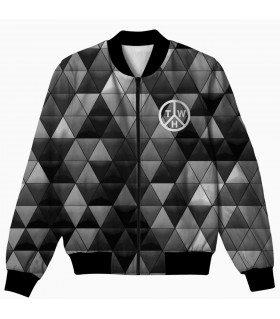 geometrical all over printed jacket