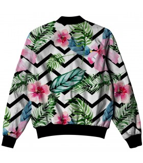 watercolor flowers ALL OVER PRINTED JACKET
