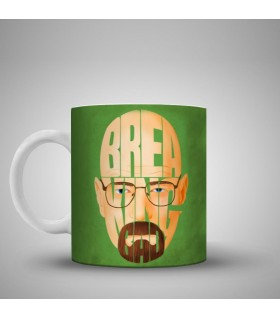 Breaking Bad face printed mug
