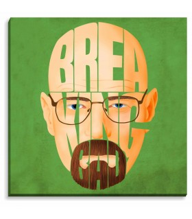 Breaking Bad Green printed canvas frame