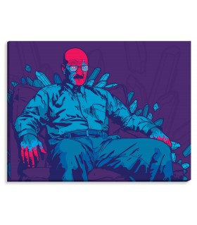 Breaking Bad pruple printed canvas frame