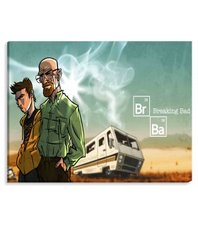 Breaking Bad Van printed canvas frame