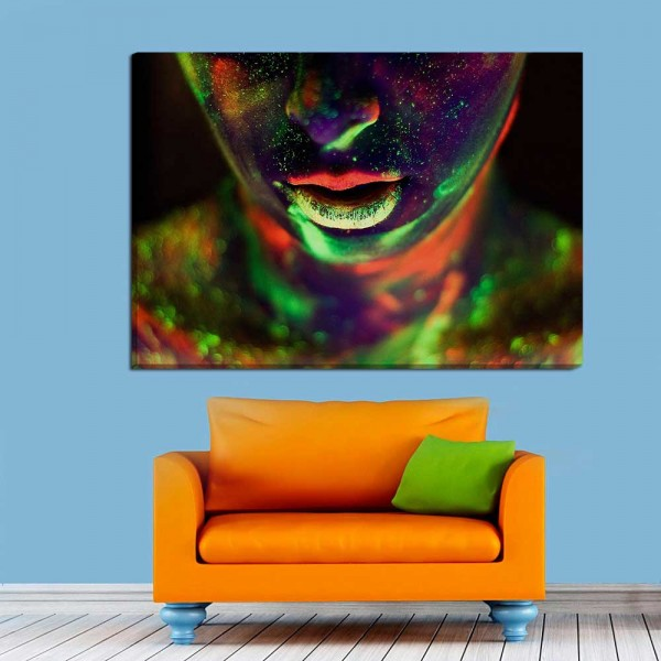 Neon Art Canvas Frame