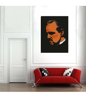 the god father canvas frame