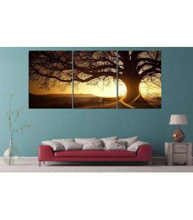 set of 3 Scenery canvas frames