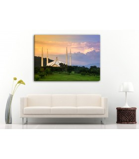 faisal mosque canvas frames