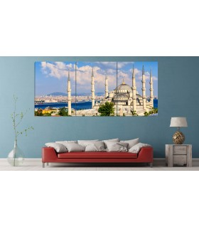 set of 3 mosque canvas frames