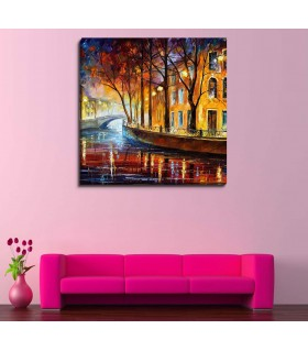 Water alley canvas frames