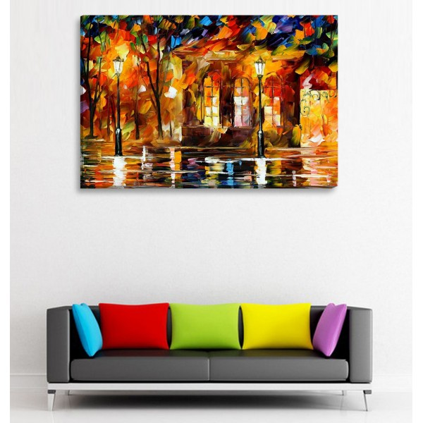 Pole Lights Canvas Frames