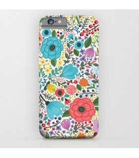floral design art printed mobile cover