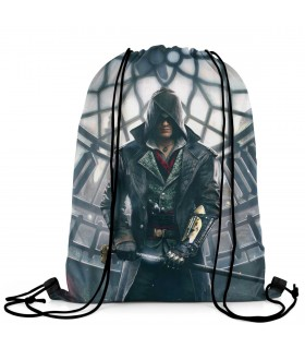 assassins creed syndicate printed drawstring bag