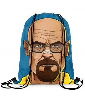 breaking bad printed drawstring bag