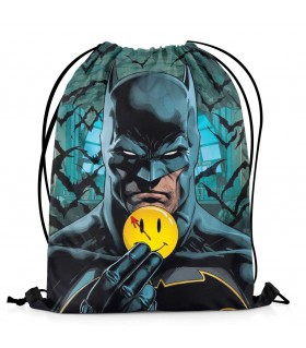 batman printed drawstring bag