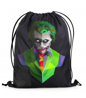 joker printed drawstring bag