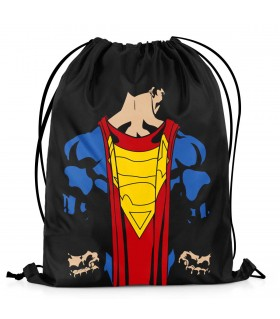 superman printed drawstring bag