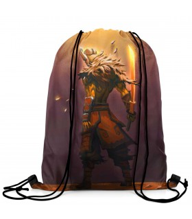 Juggernaut printed drawstring bag
