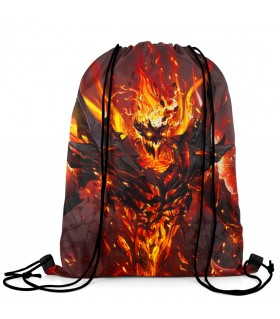 Shadow Fiend printed drawstring bag