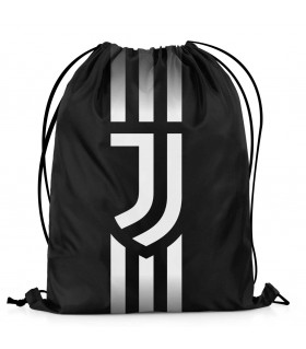 juventus printed drawstring bag