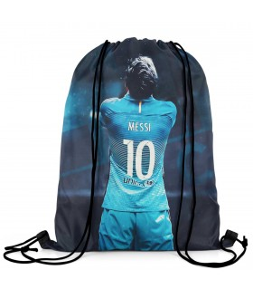 lionel messi printed drawstring bag