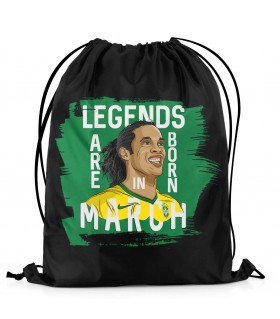 march printed drawstring bag