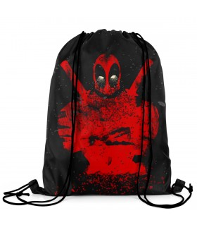 deadpool printed drawstring bag