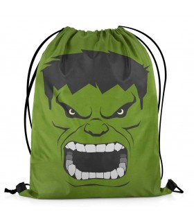 hulk printed drawstring bag