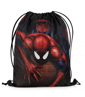 spider-man printed drawstring bag