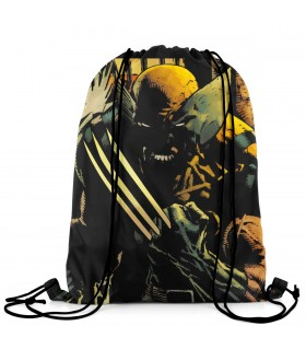 wolverine printed drawstring bag