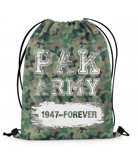 pak army 1947 printed drawstring bag