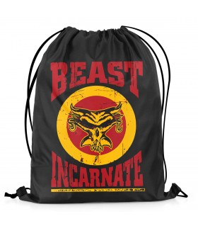 beast incarnate printed drawstring bag