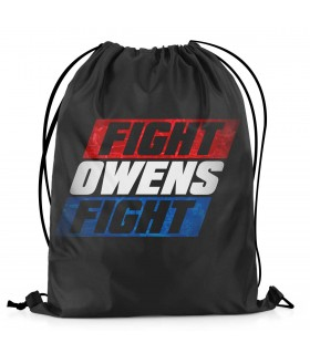 fight owens fight printed drawstring bag