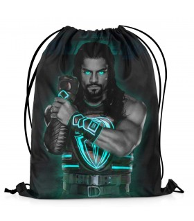 roman reigns printed drawstring bag