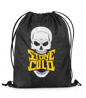 stone cold printed drawstring bag