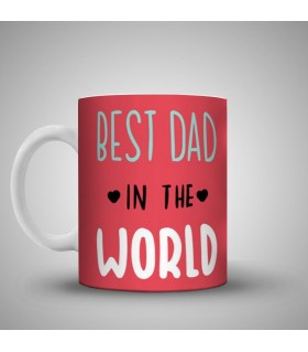 best dad in the world art printed mug