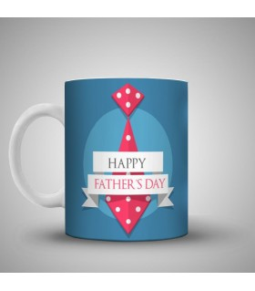 happy fathers day art printed mug