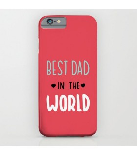 best dad in the world art printed mobile cover