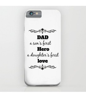 dad a son art printed mobile cover