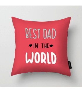 best dad in the world art printed pillow