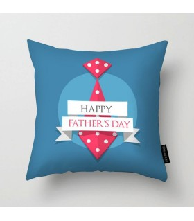 happy fathers day art printed pillow
